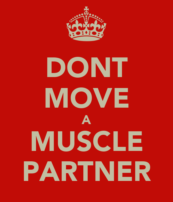 DONT MOVE A MUSCLE PARTNER