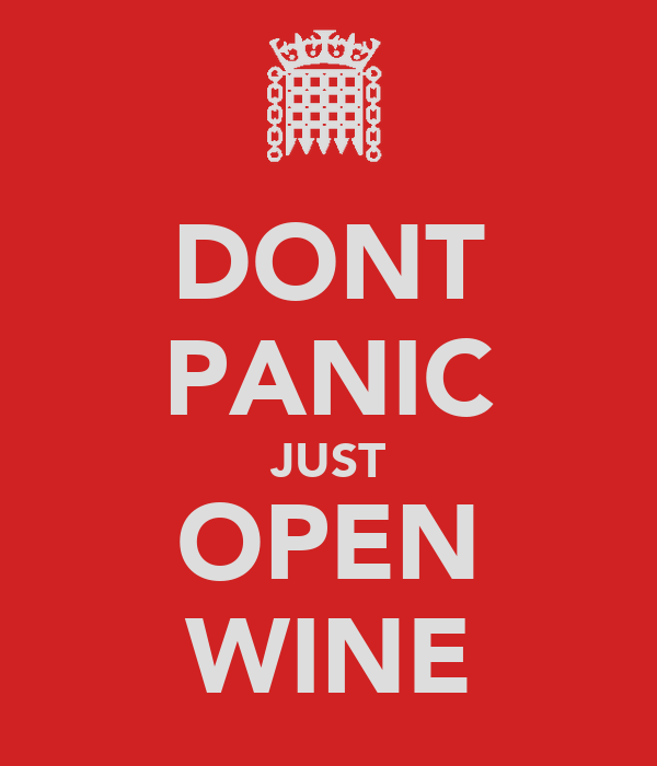 DONT PANIC JUST OPEN WINE