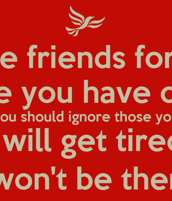 how to keep the friends you have