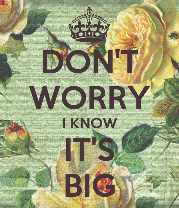 DON'T WORRY I KNOW IT'S BIG