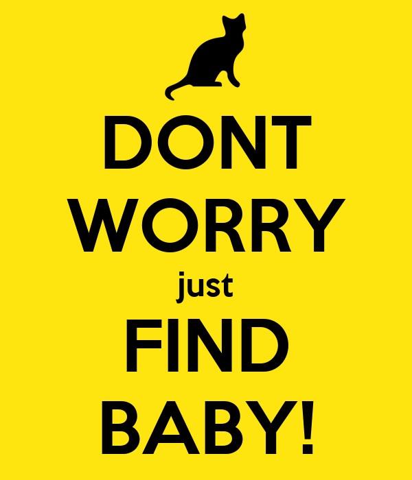 DONT WORRY just FIND BABY!