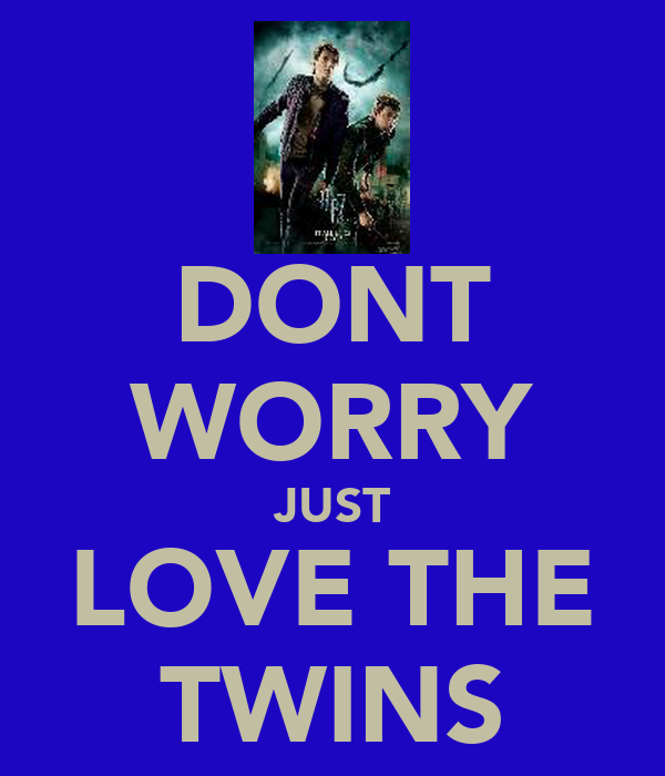 DONT WORRY JUST LOVE THE TWINS