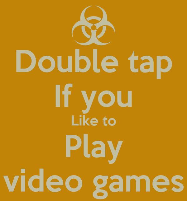 double tap if you like to play video games poster bobby keep calm o matic. Black Bedroom Furniture Sets. Home Design Ideas