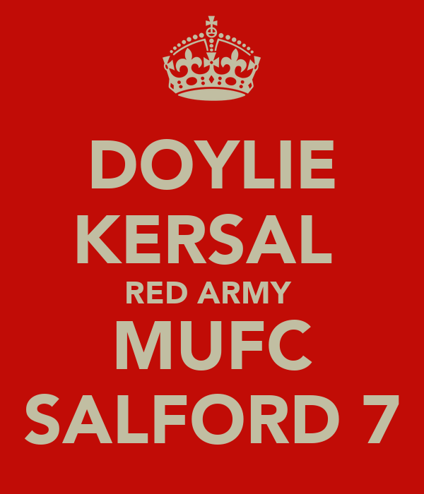 DOYLIE KERSAL  RED ARMY  MUFC SALFORD 7
