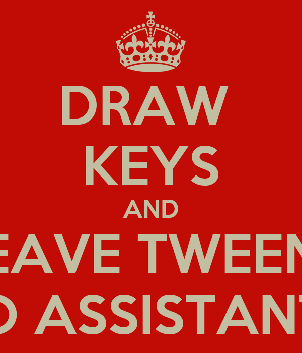 DRAW  KEYS AND LEAVE TWEENS TO ASSISTANTS