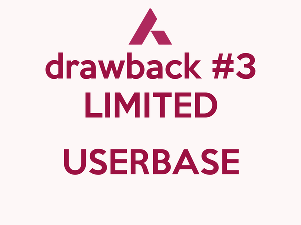 drawback #3 LIMITED  USERBASE