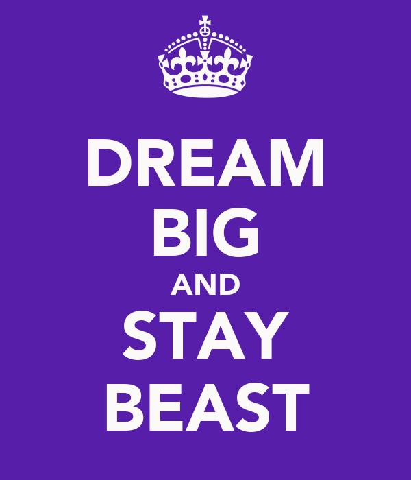 DREAM BIG AND STAY BEAST