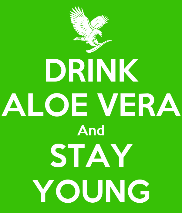 DRINK ALOE VERA And STAY YOUNG