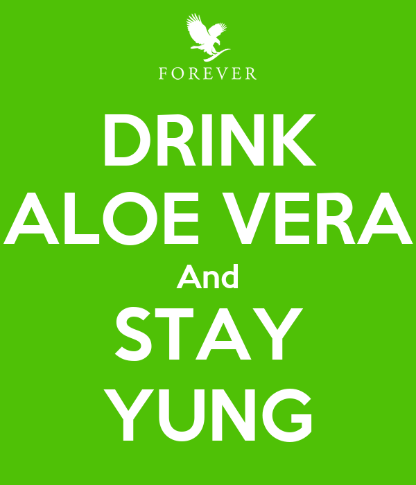 DRINK ALOE VERA And STAY YUNG