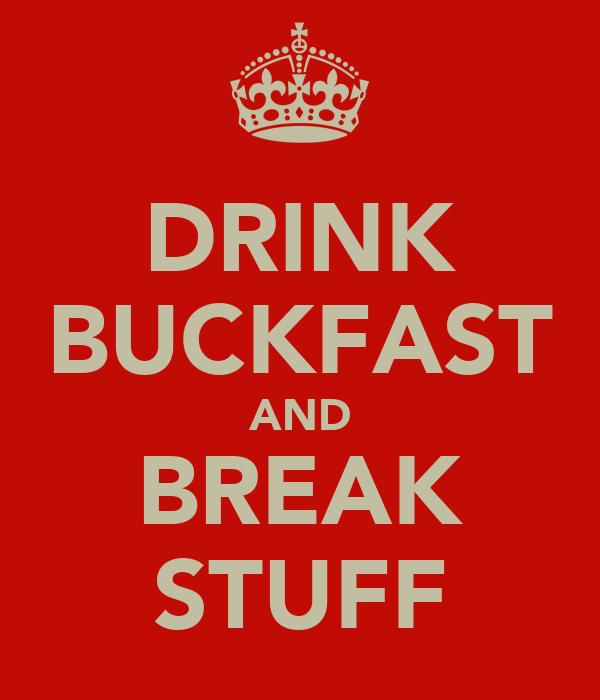 DRINK BUCKFAST AND BREAK STUFF
