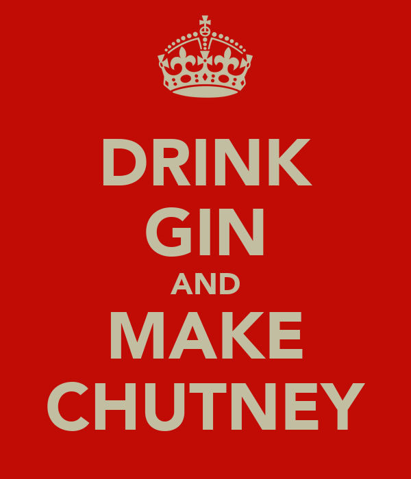 DRINK GIN AND MAKE CHUTNEY