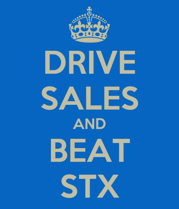 DRIVE SALES AND BEAT STX
