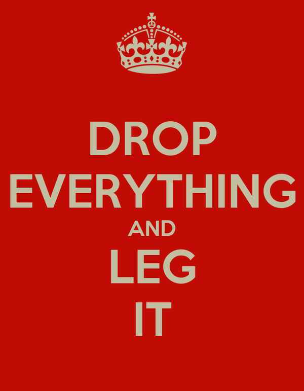 DROP EVERYTHING AND LEG IT