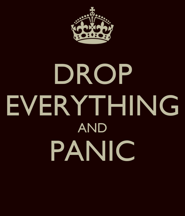DROP EVERYTHING AND PANIC