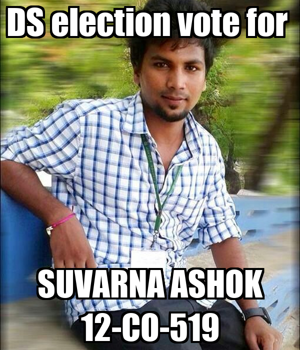DS election vote for  SUVARNA ASHOK 12-CO-519
