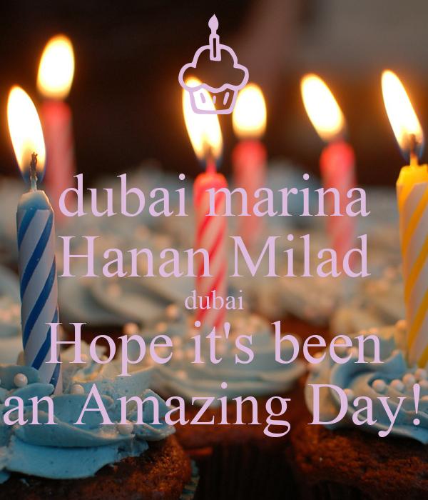 dubai marina Hanan Milad dubai Hope it's been an Amazing Day!