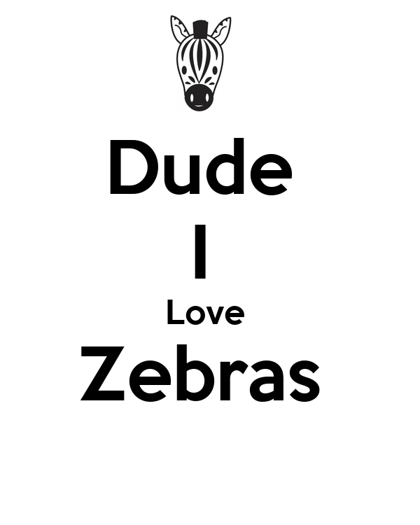 Dude  I  Love  Zebras