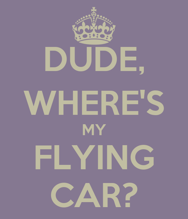 DUDE, WHERE'S MY FLYING CAR?