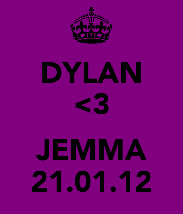 DYLAN <3  JEMMA 21.01.12