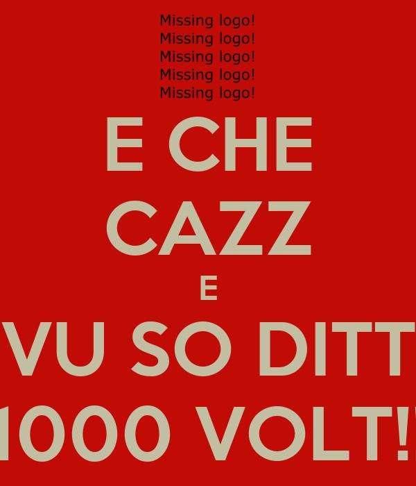 E CHE CAZZ E VU SO DITT 1000 VOLT!!
