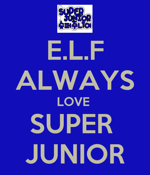 E.L.F ALWAYS LOVE  SUPER  JUNIOR