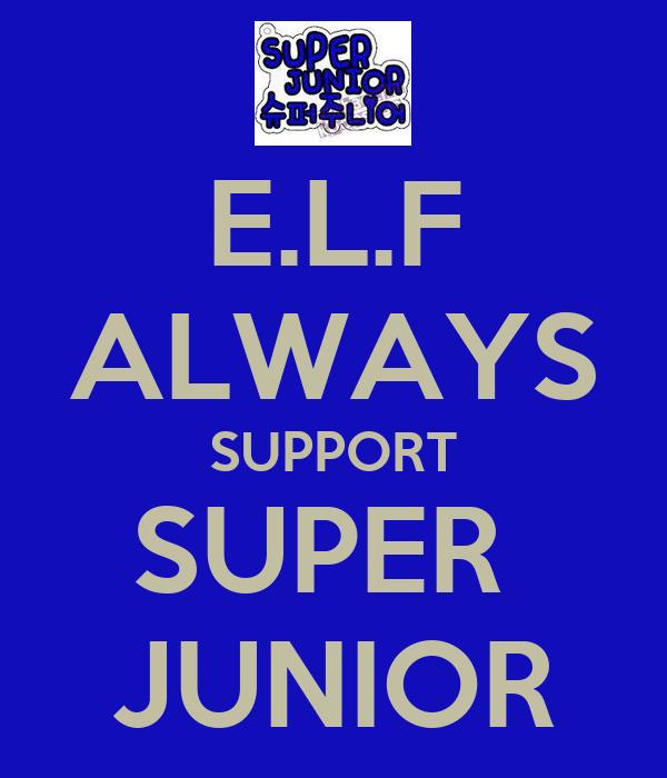 E.L.F ALWAYS SUPPORT SUPER  JUNIOR