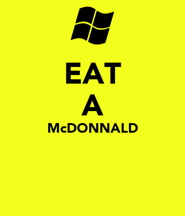 EAT A McDONNALD