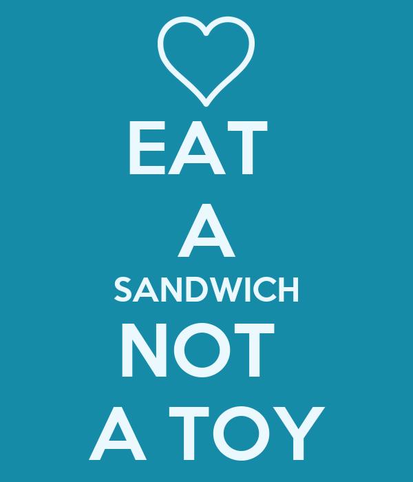 EAT  A SANDWICH NOT  A TOY