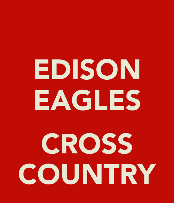 EDISON EAGLES  CROSS COUNTRY