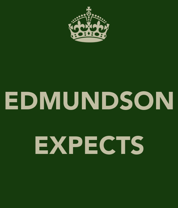 EDMUNDSON  EXPECTS