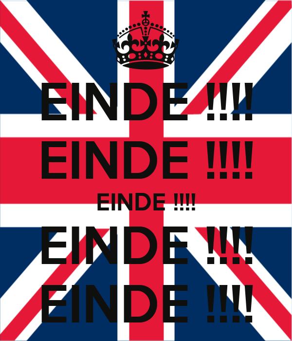 EINDE !!!! EINDE !!!! EINDE !!!! EINDE !!!! EINDE !!!!