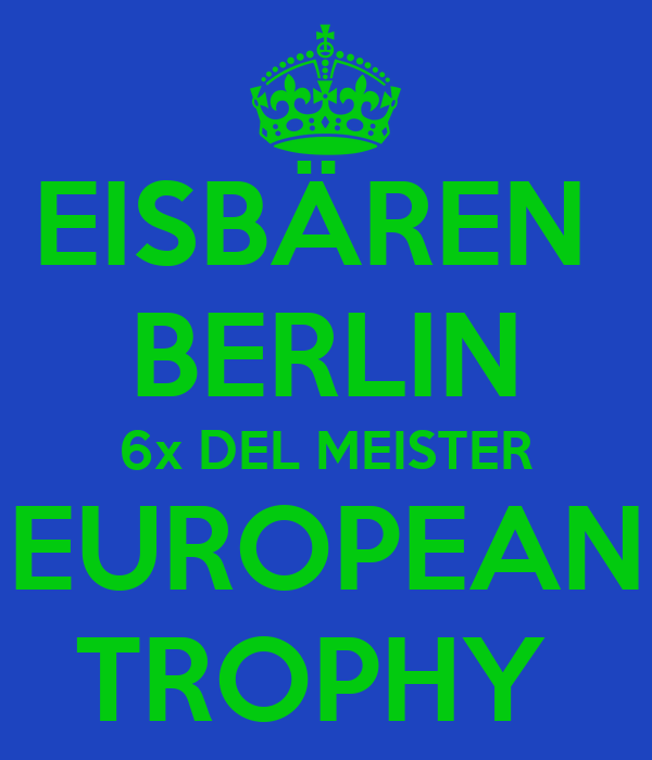 eisb ren berlin 6x del meister european trophy poster p. Black Bedroom Furniture Sets. Home Design Ideas