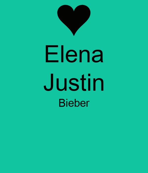 Elena Justin Bieber