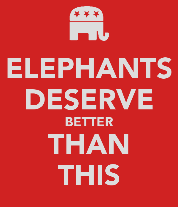 ELEPHANTS DESERVE BETTER THAN THIS