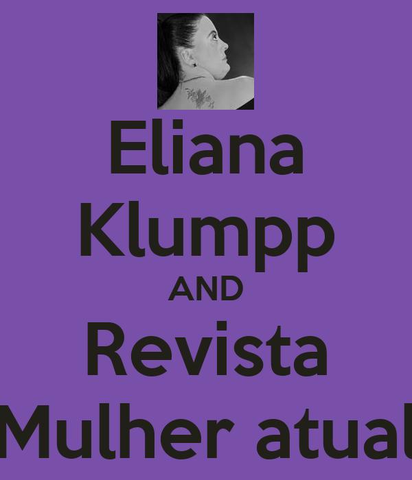 Eliana Klumpp AND Revista Mulher atual