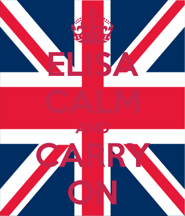 ELISA CALM AND CARRY ON