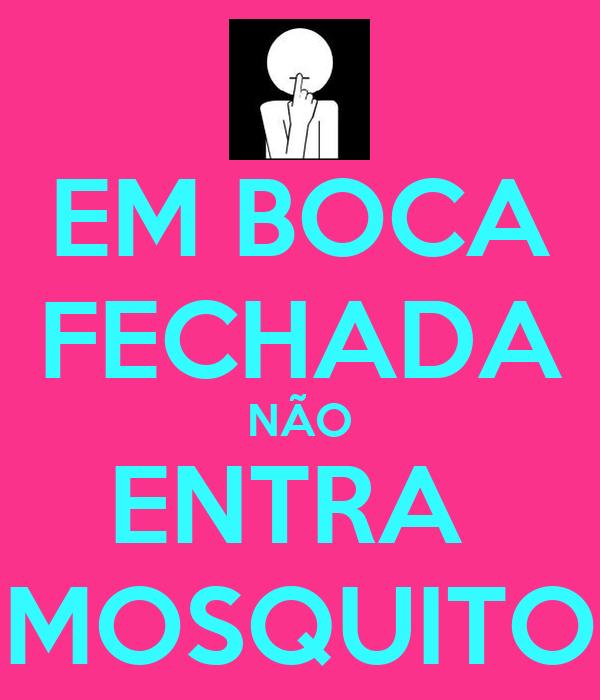 EM BOCA FECHADA NÃO ENTRA  MOSQUITO