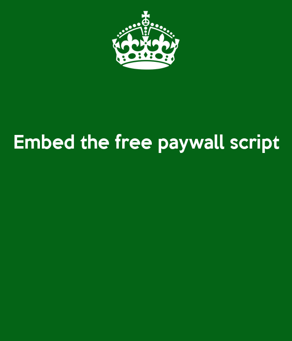 Embed the free paywall script