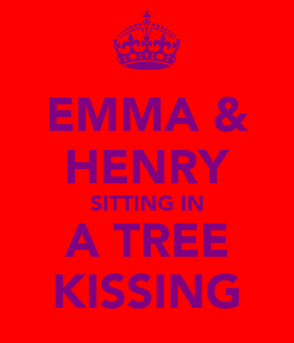 EMMA & HENRY SITTING IN A TREE KISSING