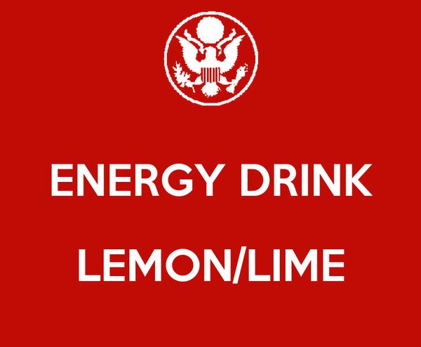 ENERGY DRINK  LEMON/LIME