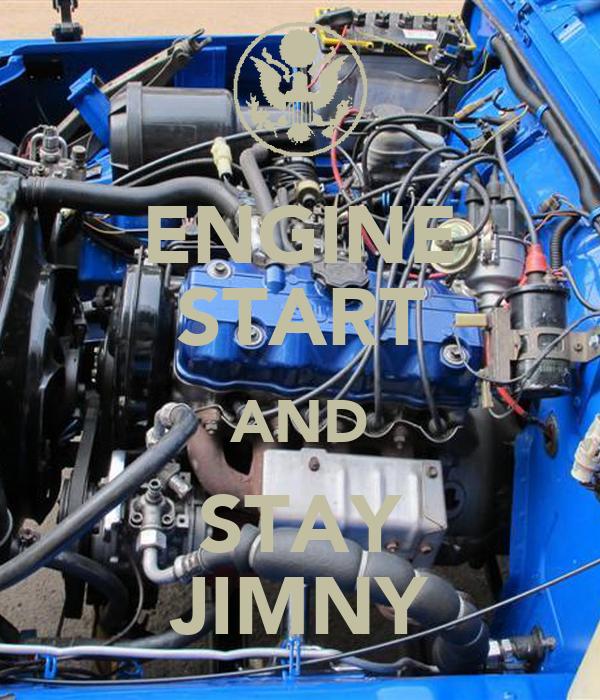 ENGINE START AND STAY JIMNY