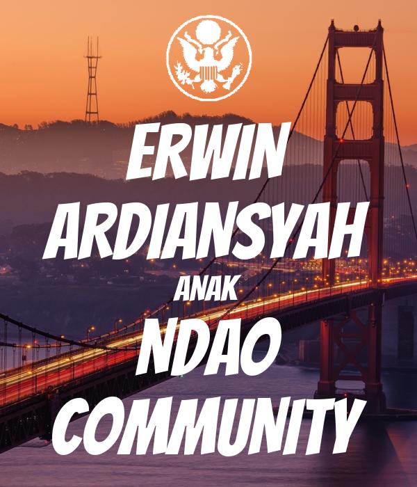 ERWIN ARDIANSYAH ANAK NDAO COMMUNITY