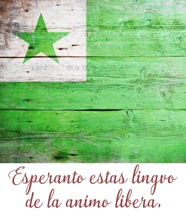 Esperanto estas lingvo  de la animo libera.