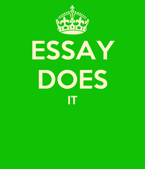 ESSAY DOES IT