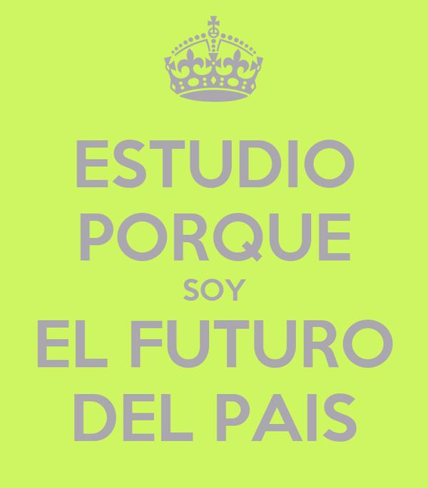 ESTUDIO PORQUE SOY EL FUTURO DEL PAIS
