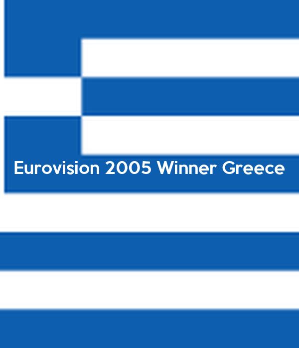Eurovision 2005 Winner Greece