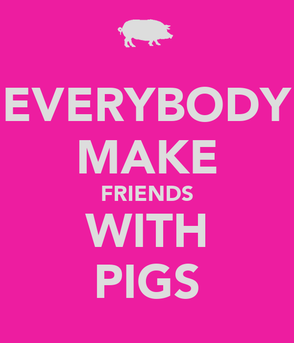 EVERYBODY MAKE FRIENDS WITH PIGS