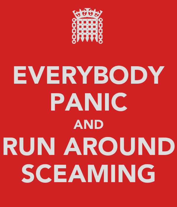 EVERYBODY PANIC AND RUN AROUND SCEAMING