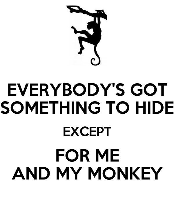 EVERYBODY'S GOT SOMETHING TO HIDE EXCEPT FOR ME AND MY MONKEY