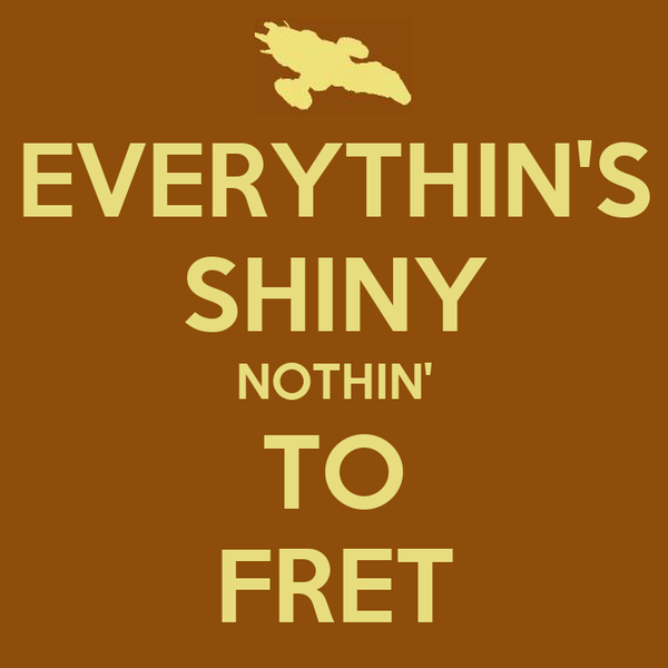 EVERYTHIN'S SHINY NOTHIN' TO FRET